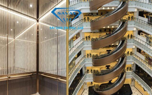 trang trí thang máy