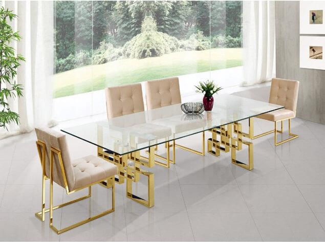 Chân bàn inox mạ vàng