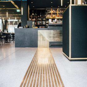 Trang trí nhà hàng bằng kim loại