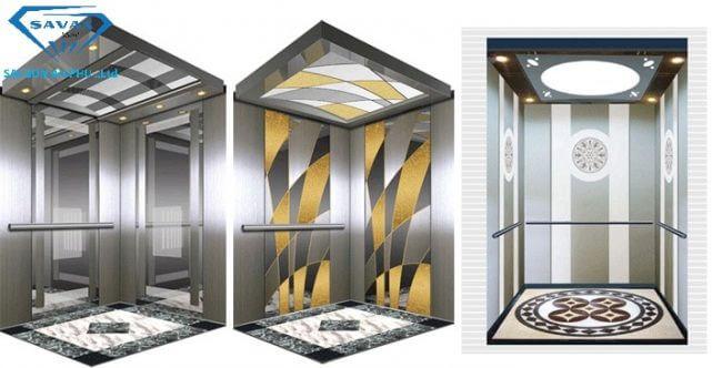 Một số mẫu ốp trang trí thang máy thông dụng