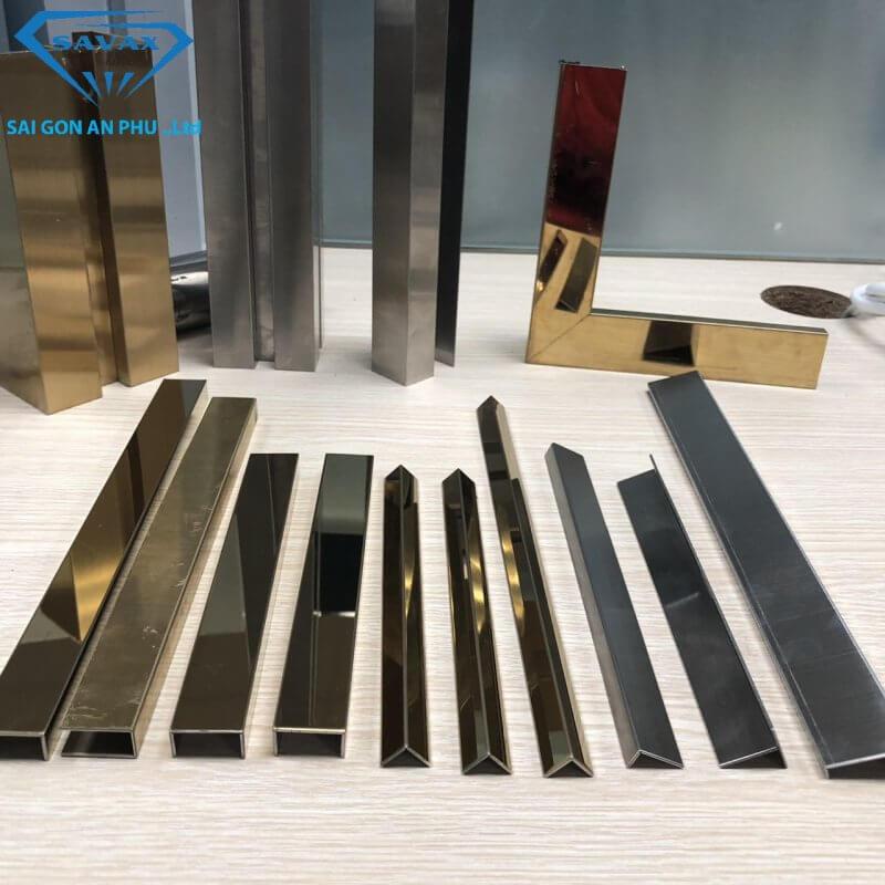 Các mẫu nẹp inox 304 mạ vàng sẵn có