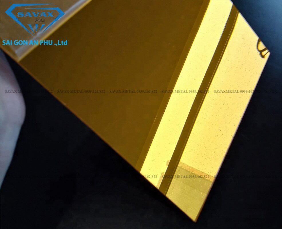 Mẫu inox vàng gương