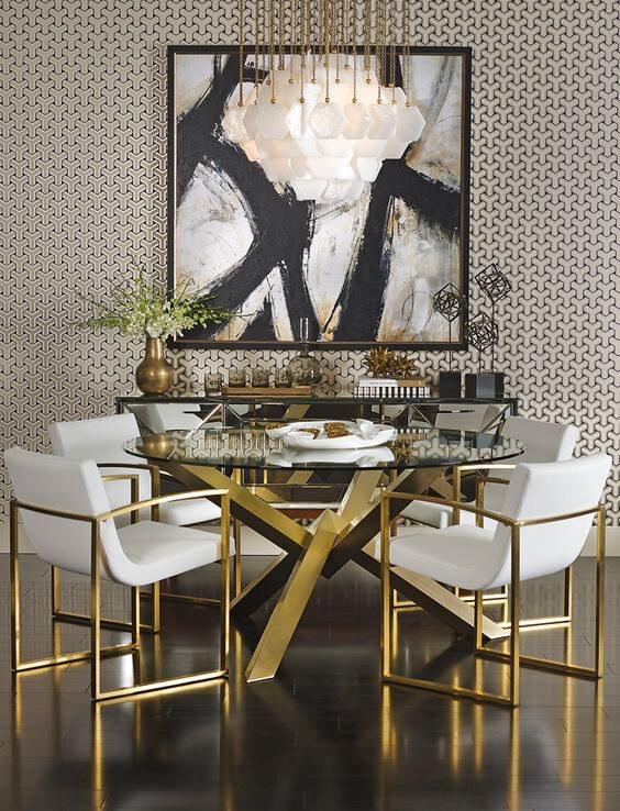 Mẫu bàn độc đáo kết hợp với ghế sofa màu trắng tinh khôi