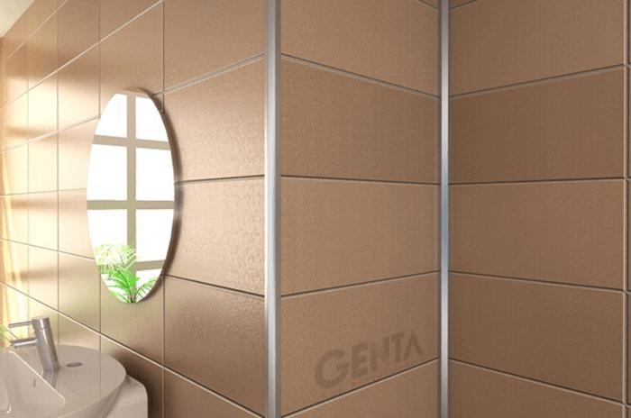 Mẫu nẹp nhôm trang trí tường cho phòng tắm