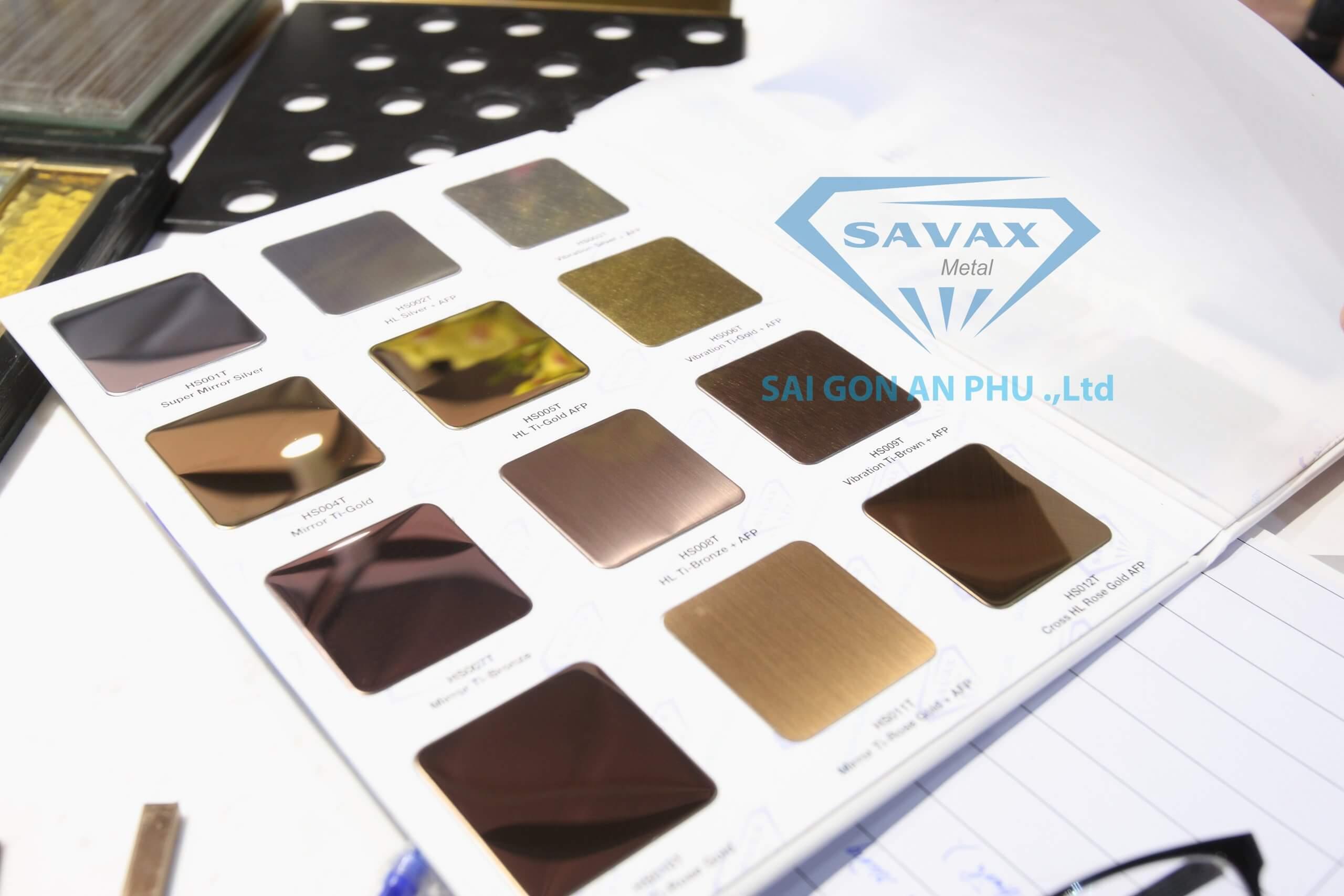 Bảng màu inox tại Savax