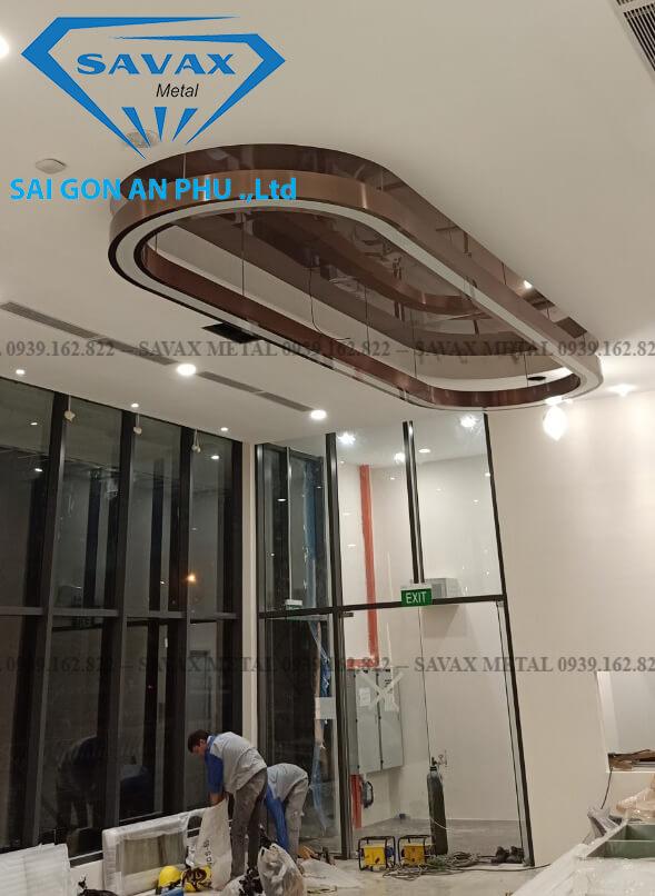 Mẫu nẹp inox cho trần nhà